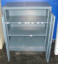 Used Three Shelf Metal Storage Cabinet