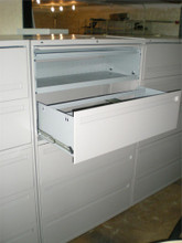 "USED HON 42"" LATERAL FILES 5 DRAWER/ ONE TUB PULL OUT 4 DRAWERS LIGHT GREY LOCKING"