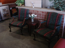 RECEPTION SEATING CLUB CHAIRS HIGH BACK WING