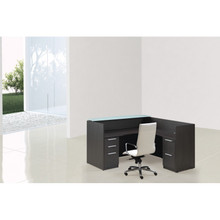 Reception Desk with White Frost Transactional Top