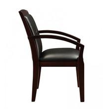 Cuscino Espresso Wood Guest Chair