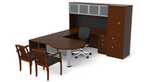 Cherryman Jade P-Shape U-Desk w/ Hutch & Wardrobe (Left & Right)