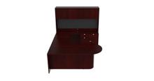 Cherryman Jade Bullet Shape U-Desk Configuration
