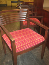 Knoll Side Chair Wood and Fabric