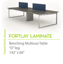 "Fortlay Laminate 142"" x60""-Straight Edges"