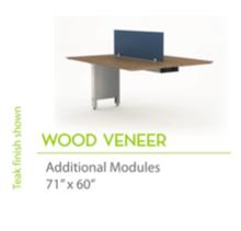 """Wood Veneer 71"""" x60""""-Straight Edges"""