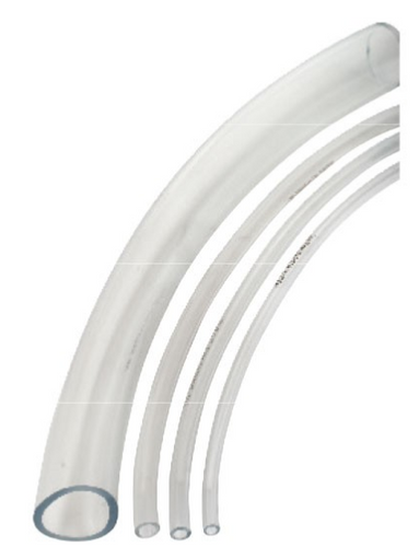 "Clear Vinyl Tubing used for air or water.  Available in a wide variety of sizes from 3/16"" up to 1.25"".  Comes in 100' coils."