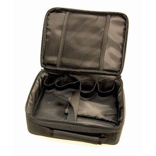 Case shown empty with top open.