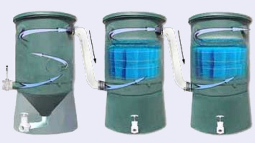 Cutaway view of wave vortex filters