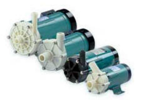 4 sizes of magnetic drive pumps