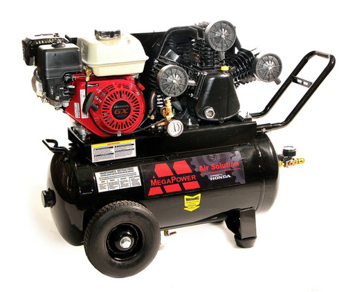 Mega MP-6520G 6.5-HP 20-Gallon 135-Psi Gas-Powered Belt Drive Air Compressor