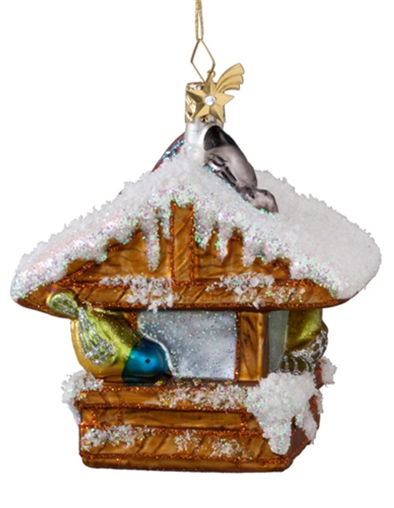 Snowy Bird Feeder