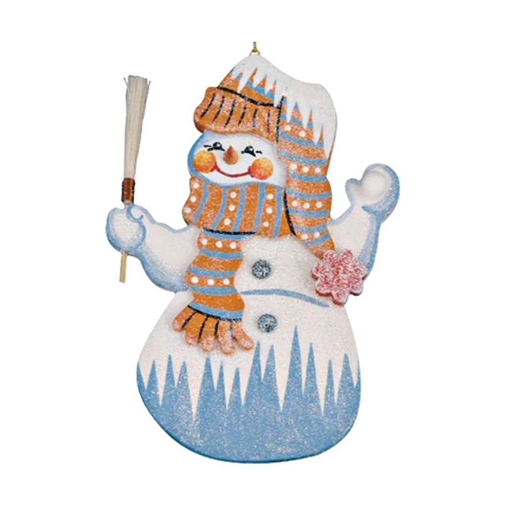 Frosty Snowman with Broom