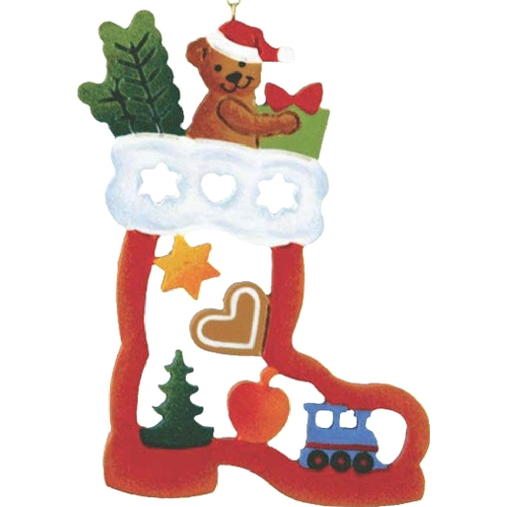 Teddy in Santa's Boot