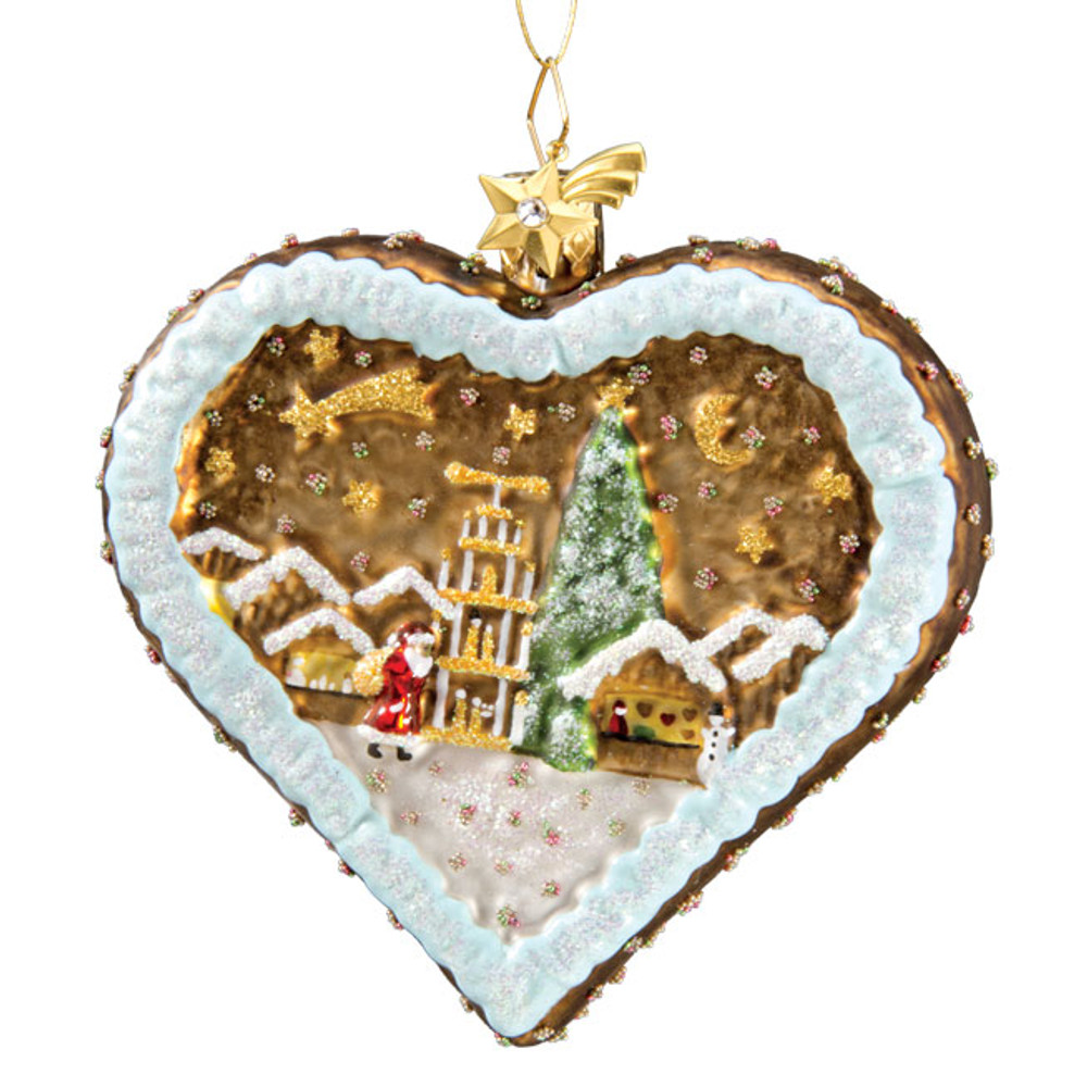 Gingerbread Heart with Scene
