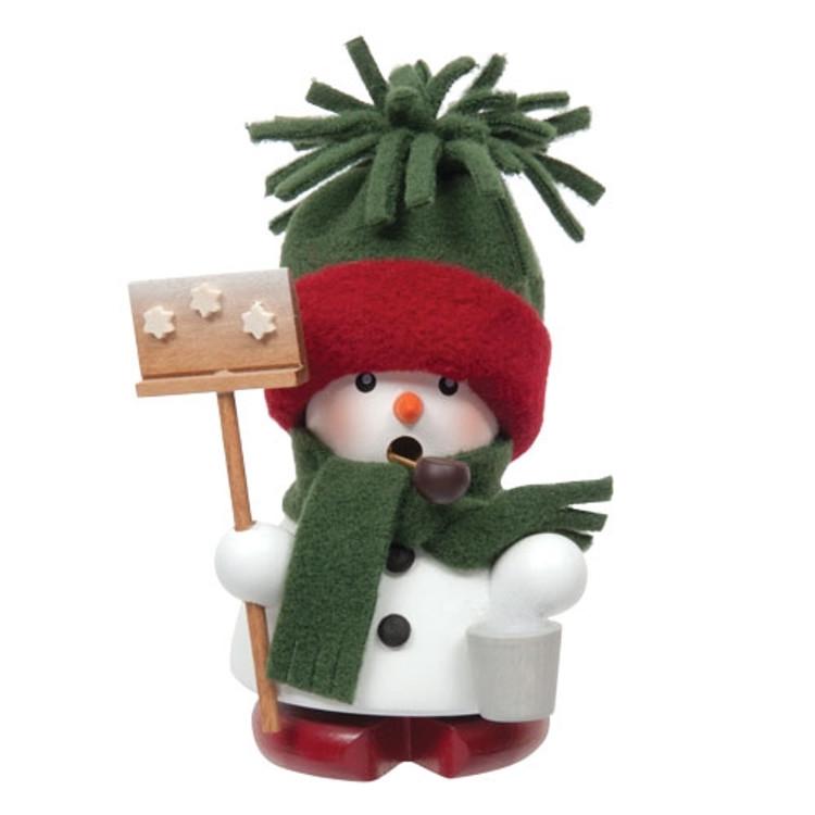 Cozy Snowman with Shovel