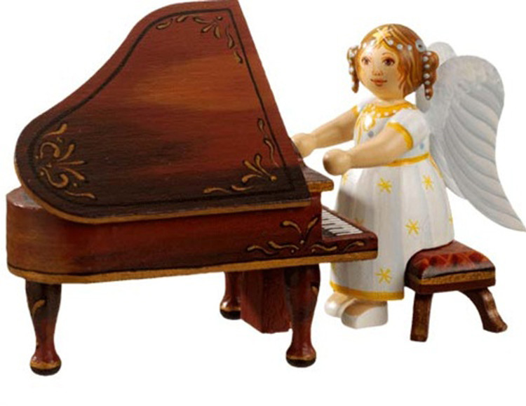 Yellow Stars Angel with Piano