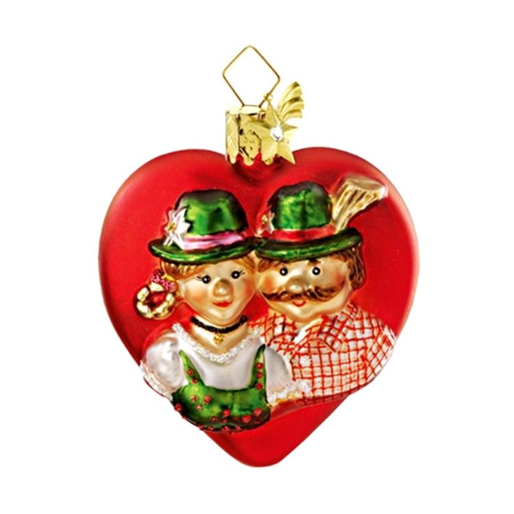 Bavarian Couple Heart - Sm