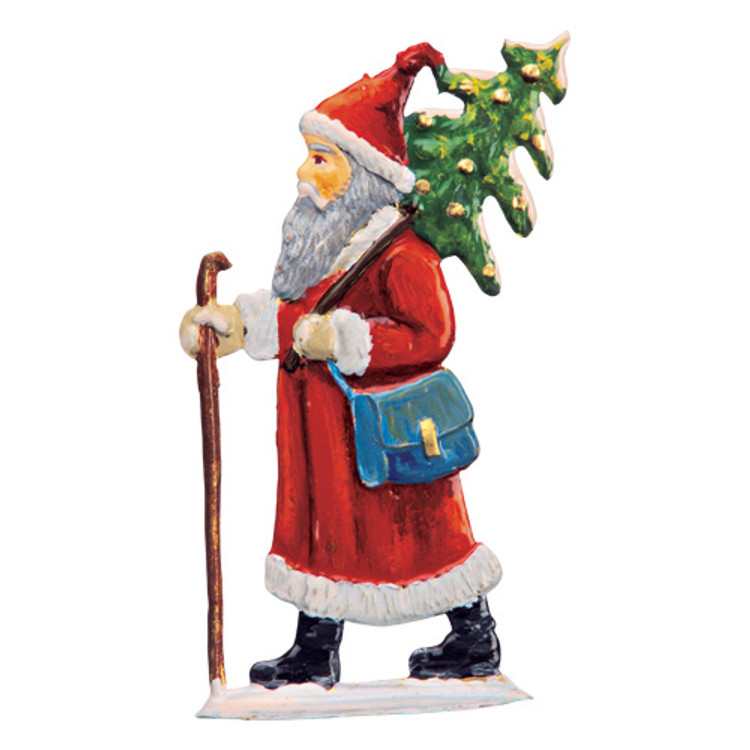 Santa Claus Carrying Tree