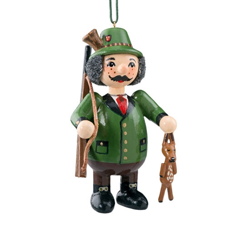 Hunter with Deer Wood Buddy Ornament