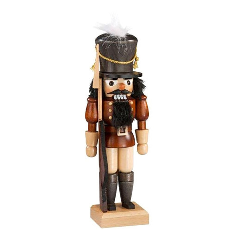 Soldier Natural with Gold Rope Nutcracker