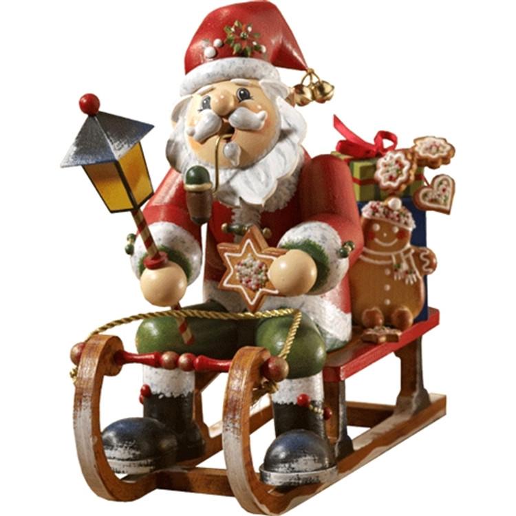 Santa on Gingerbread Sleigh