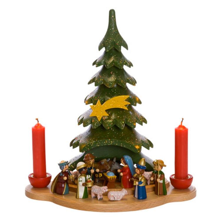Nativity Under the Tree Candleholder