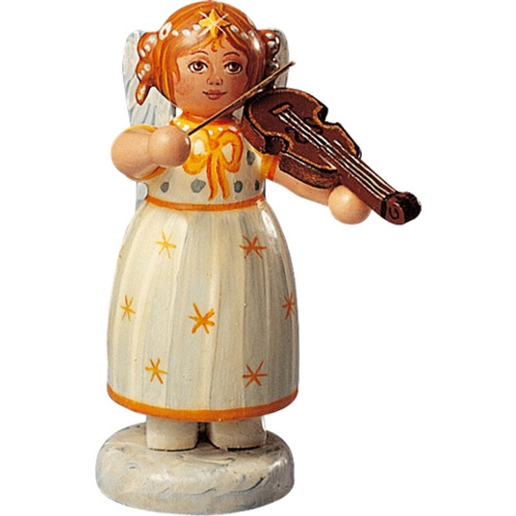 Yellow Stars Angel with Violin