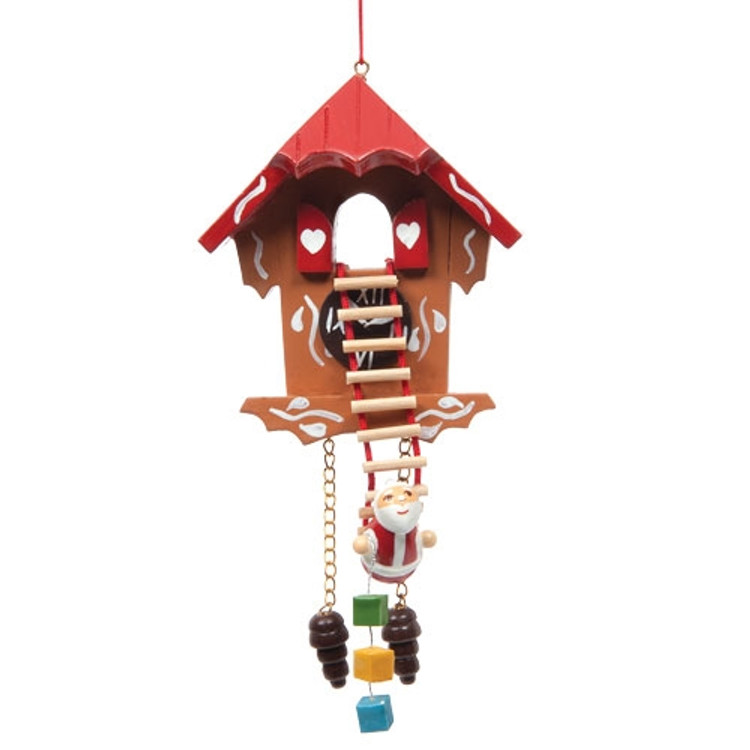 Cuckoo Clock with Santa on Ladder