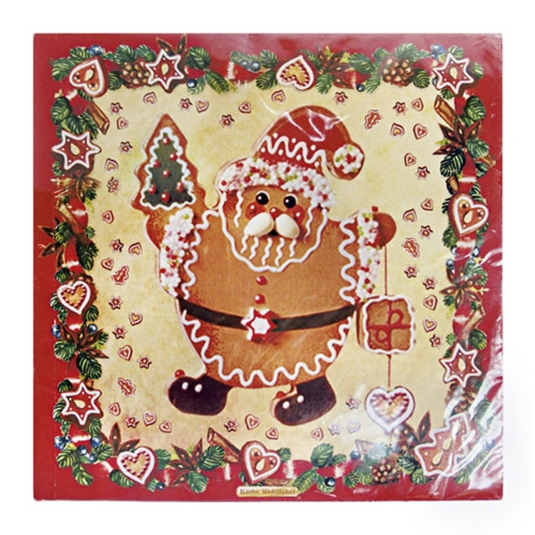 Santa Gingerbread Napkins