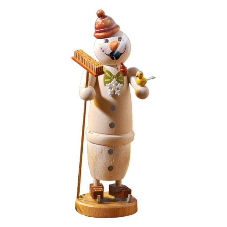 Snowman Holding Broom