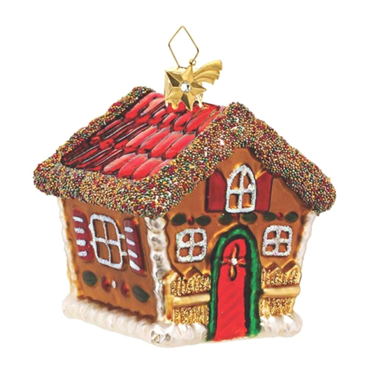 Gingerbread House with Beads