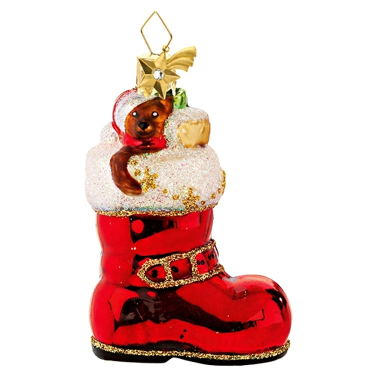 Teddy and Toys in Santa's Boot
