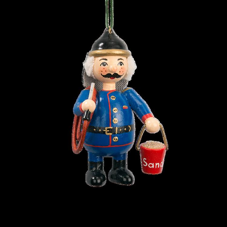 Holzbuddy Fireman Wood Ornament