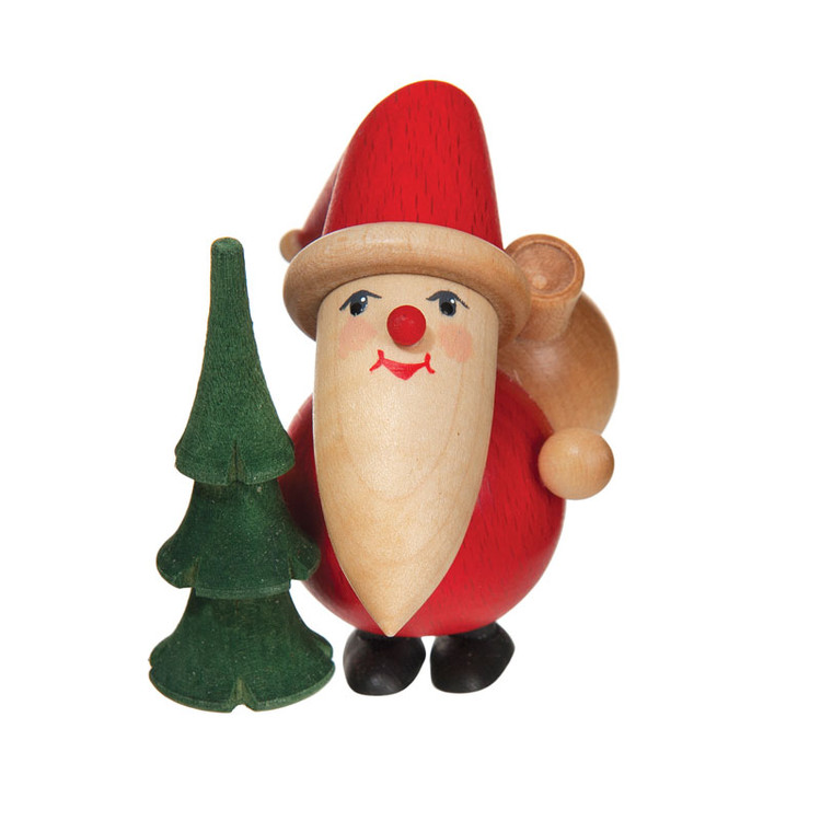 Round Santa with Tree