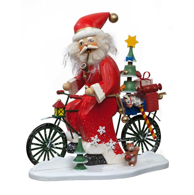 Santa Delivers Toys by Bicycle