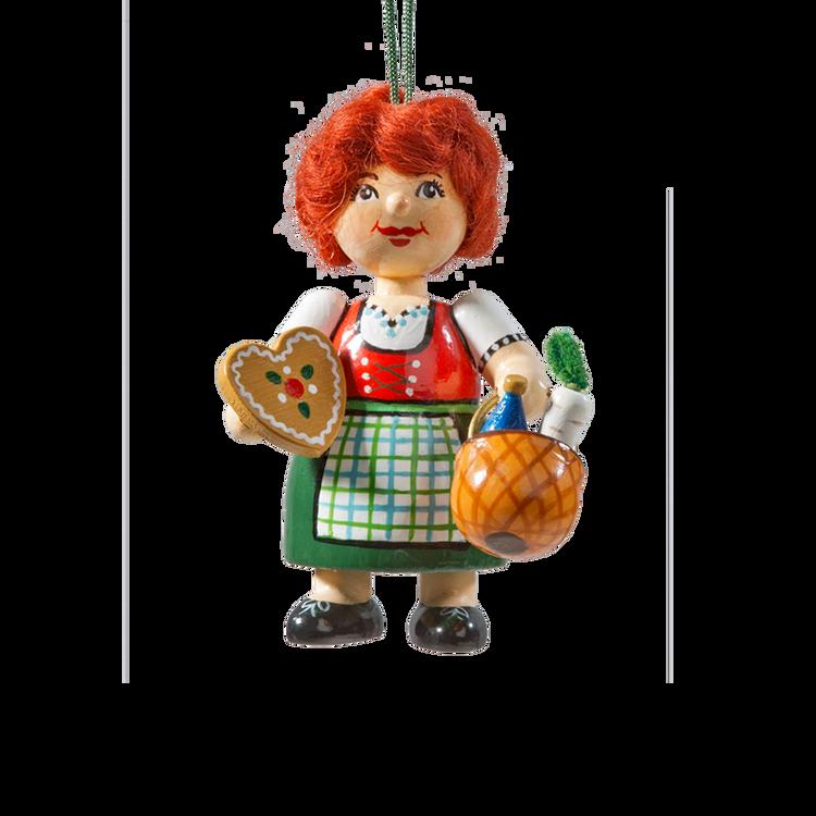Holzbuddy Bavarian Girl Wood Ornament