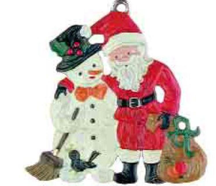 Snowman with Santa Claus