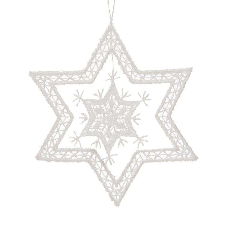 Star Snowflake Linen Ornament