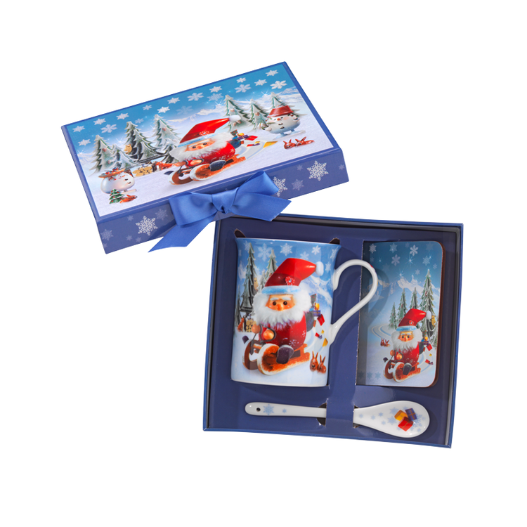 Santa Cup and Coaster Set