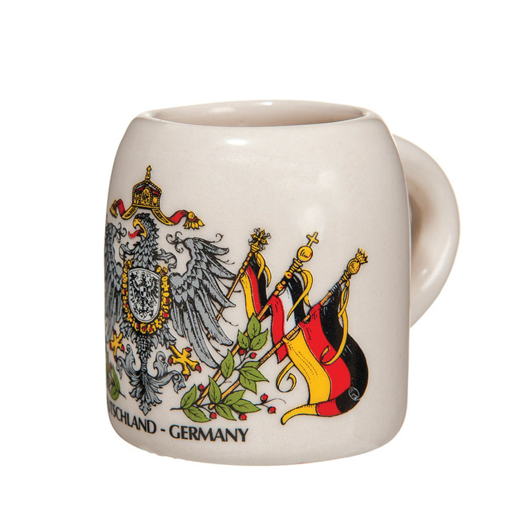 German Seal with Flags Shotglass