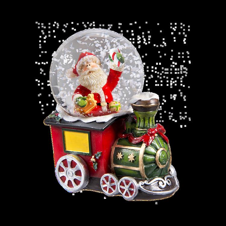 Santa Train Snow Globe