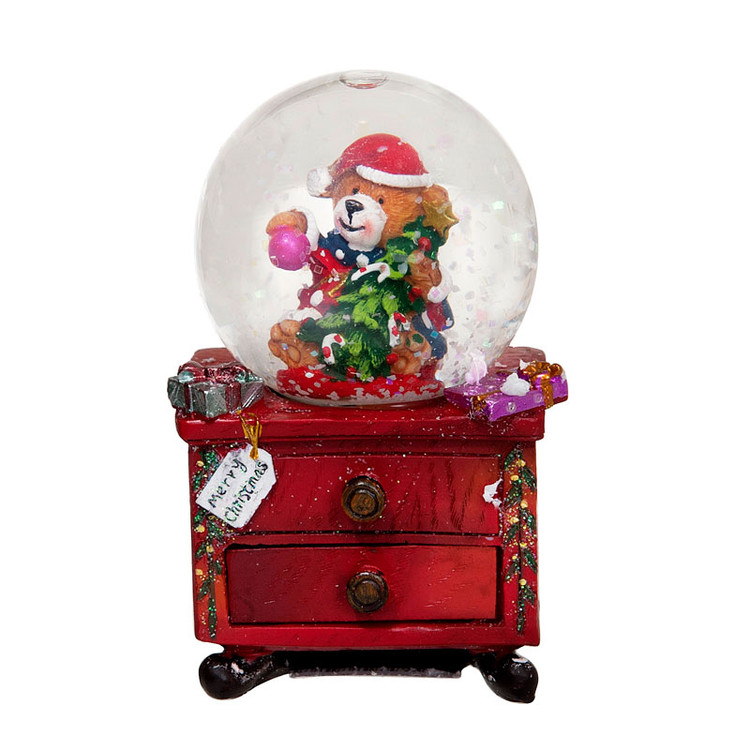Bear with Drawers Snow Globe