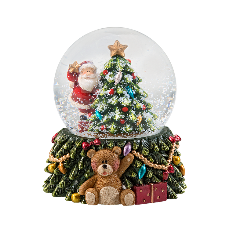 Teddies Christmas Dreams Snow Globe