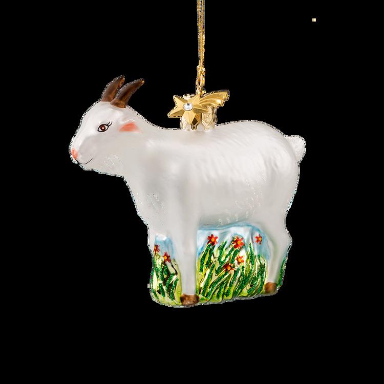 Animal Series Goat Glass Ornament