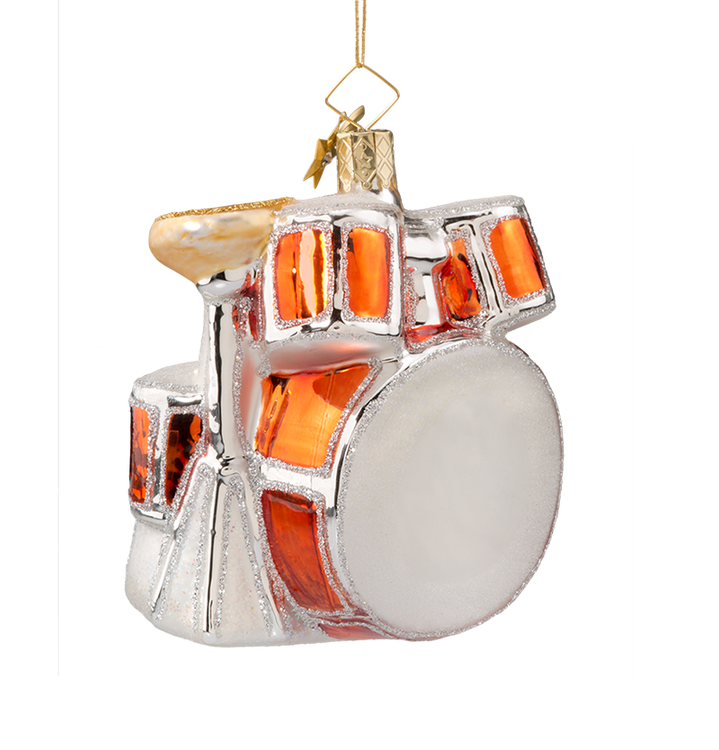 Drum Set Glass Ornament