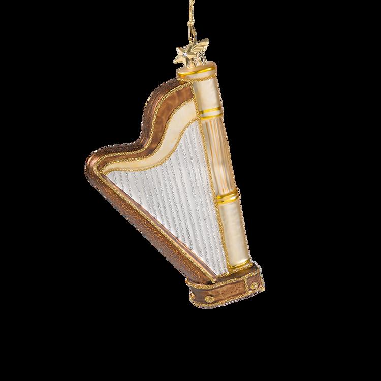 Harp Glass Ornament