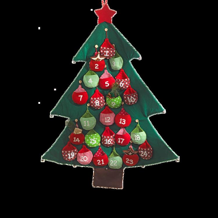 Fabric Advent Calendar Christmas Tree