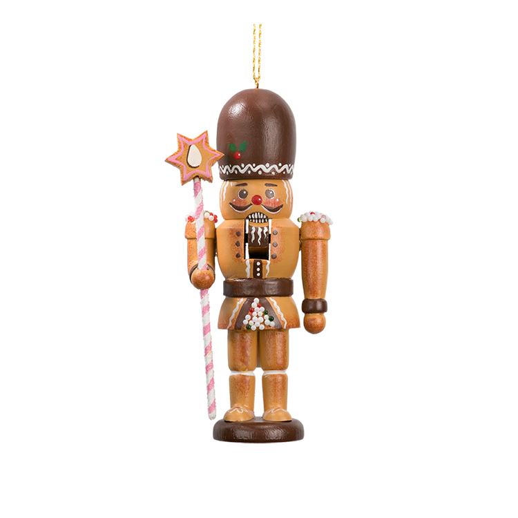 Gingerbread Nutcracker with Staff
