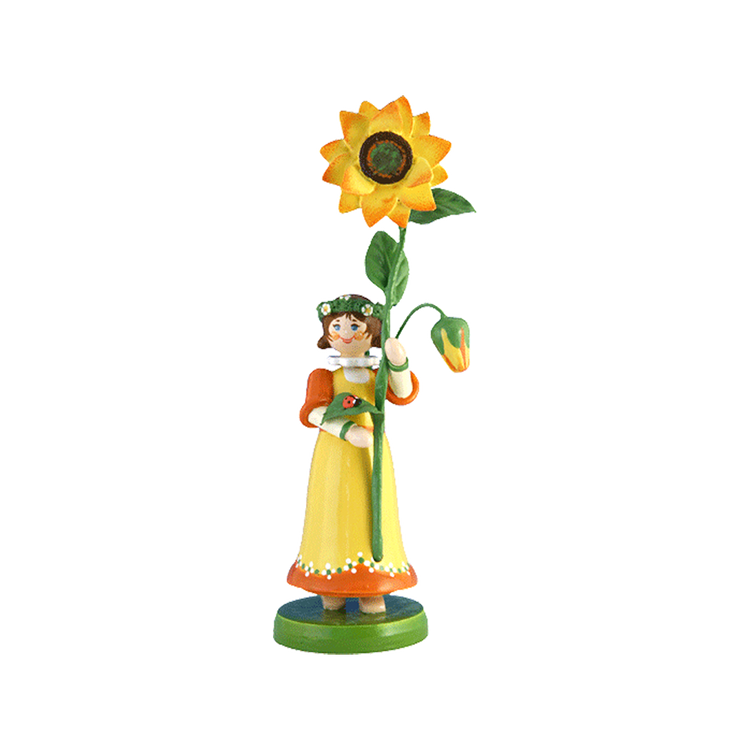 Wood Flowerchild Sunflower